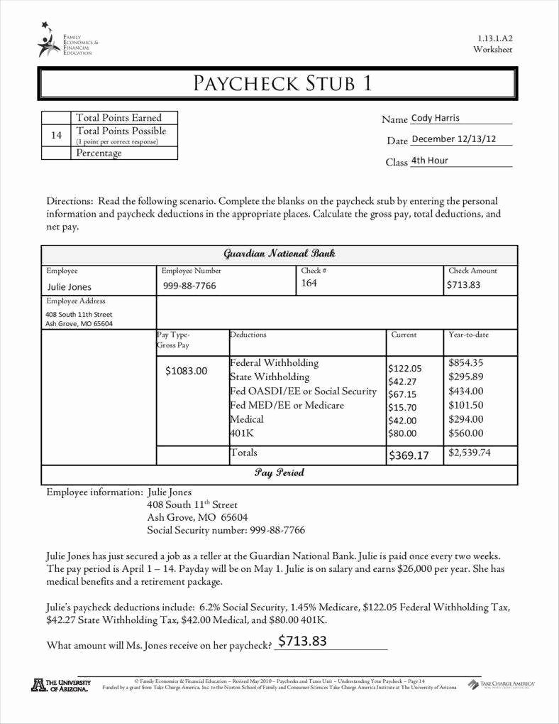 Reading A Pay Stub Worksheet Printable 9 Free Pay Stub Templates Word Pdf Excel format Download