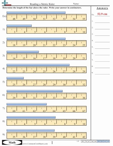 Reading A Ruler Worksheet Answers Lovely 34 Read A Ruler Worksheet Worksheet Resource Plans