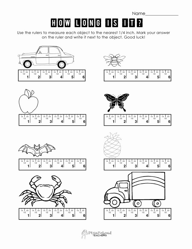 Reading A Ruler Worksheet Answers Lovely Measurement Practice 1