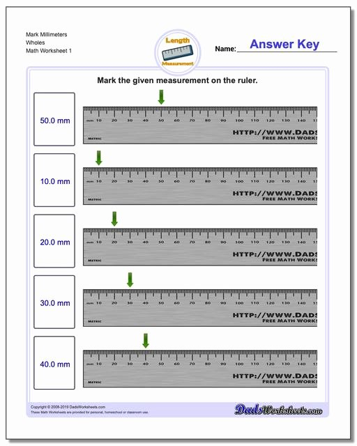 Reading A Tape Measure Worksheets Fresh Metric Measurement