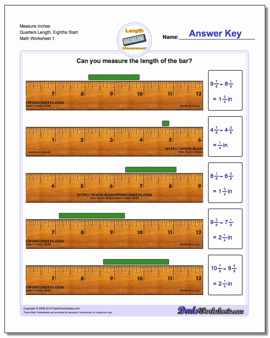 Reading A Tape Measure Worksheets Ideas Inches Measurement