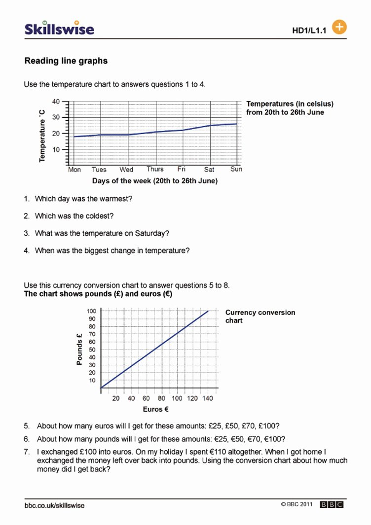 Reading Charts and Graphs Worksheet Free Charts and Graphs Worksheets