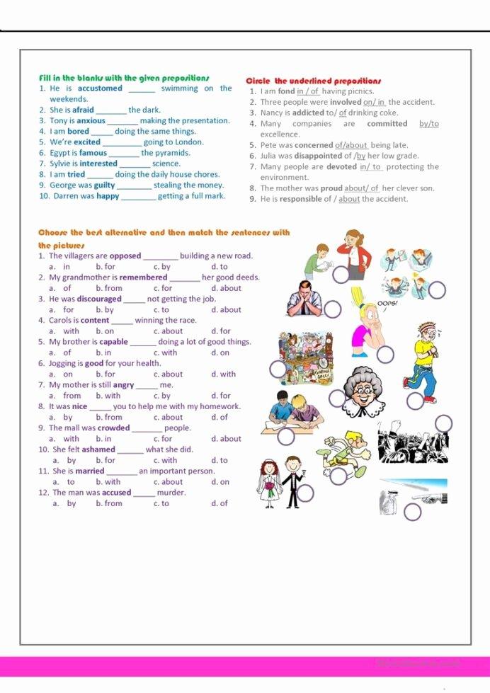 Reading Comprehension 7th Grade Worksheet Fresh Revision for the 7th Grade English Esl Worksheets Distance