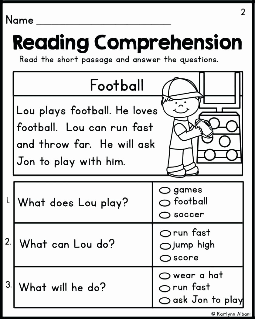 Reading Comprehension Kindergarten Worksheets Free Inspirational Worksheet Worksheet Ideas Prehension forndergarten
