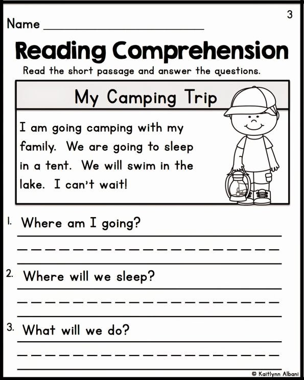 Reading Comprehension Kindergarten Worksheets Free Printable Reading Prehension Kindergarten Worksheets Free Fiction
