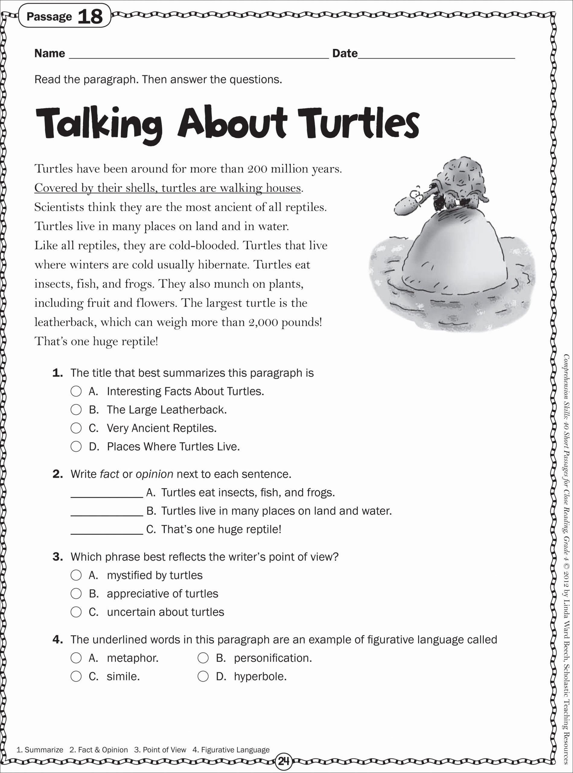 Reading Comprehension Worksheets 7th Grade Best Of Recent 7th Grade Language Arts Worksheets 7thgradeactscores