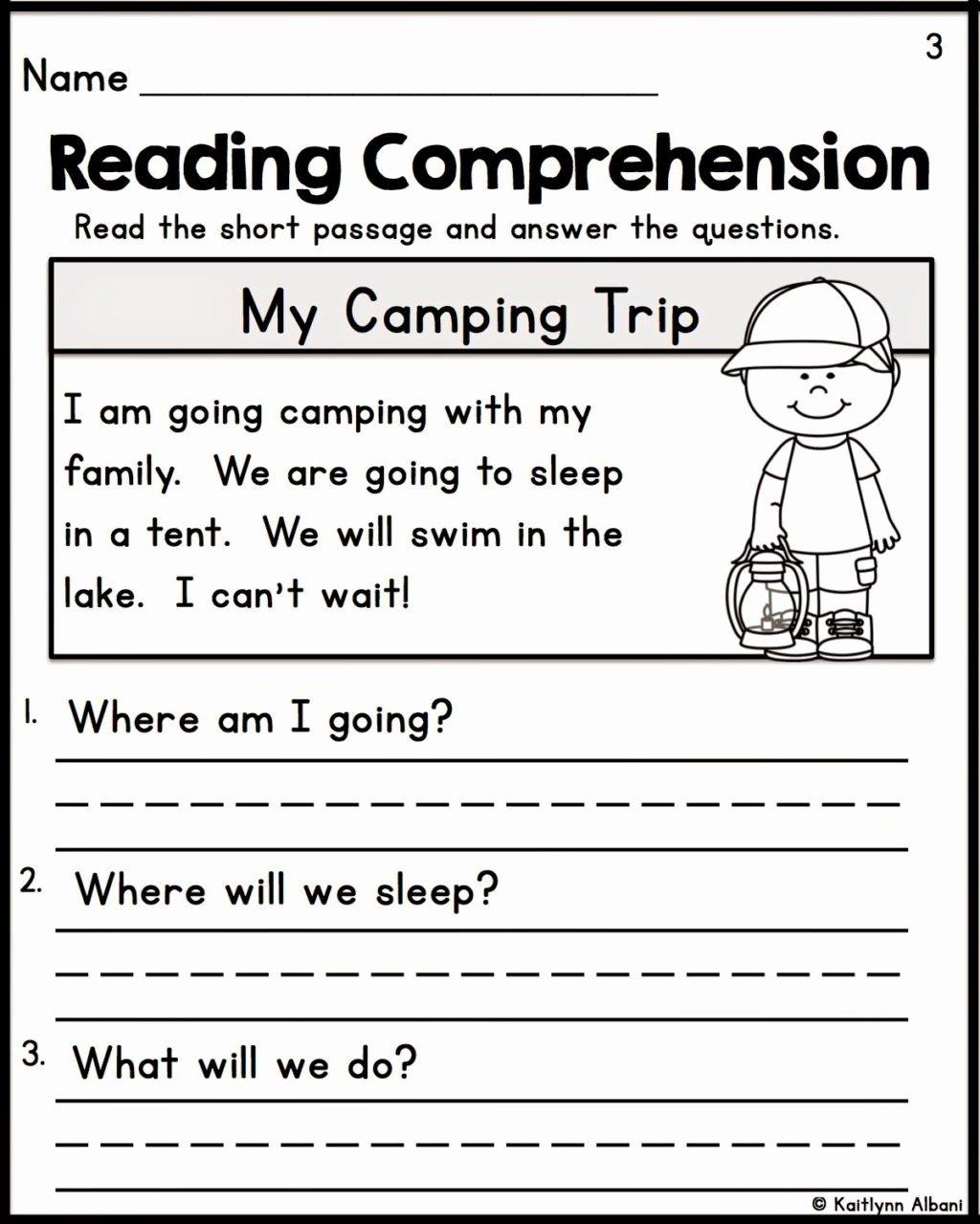 Reading Comprehension Worksheets for Kindergarten Fresh Worksheet Reading Prehension Worksheets 1st Grade