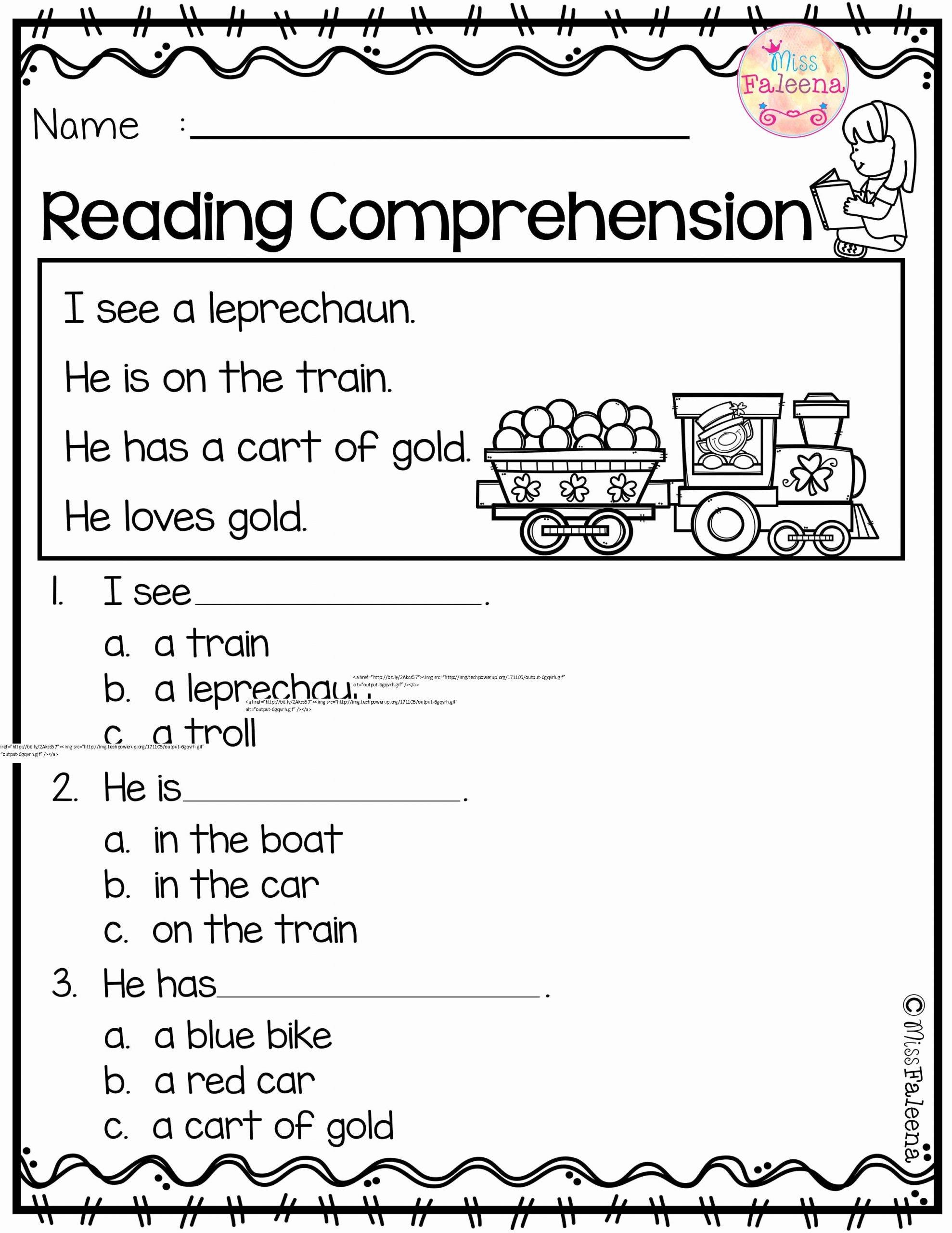 Reading Comprehension Worksheets for Kindergarten Kids March Reading Prehension is Suitable for Kindergarten