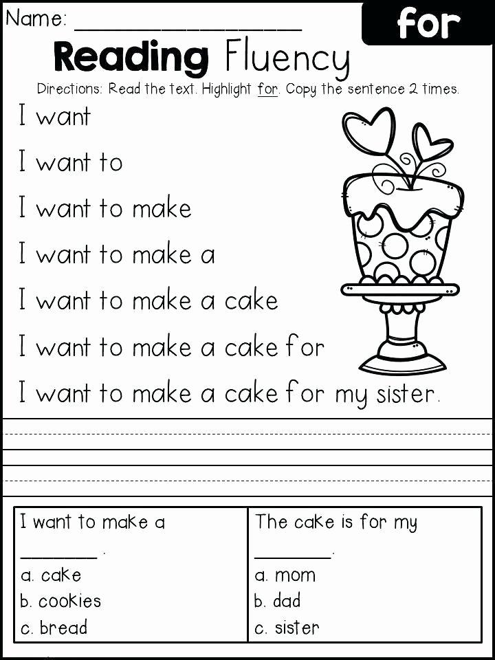 Reading Worksheets for 1st Grade Fresh Reading Worksheets for 1st Grade