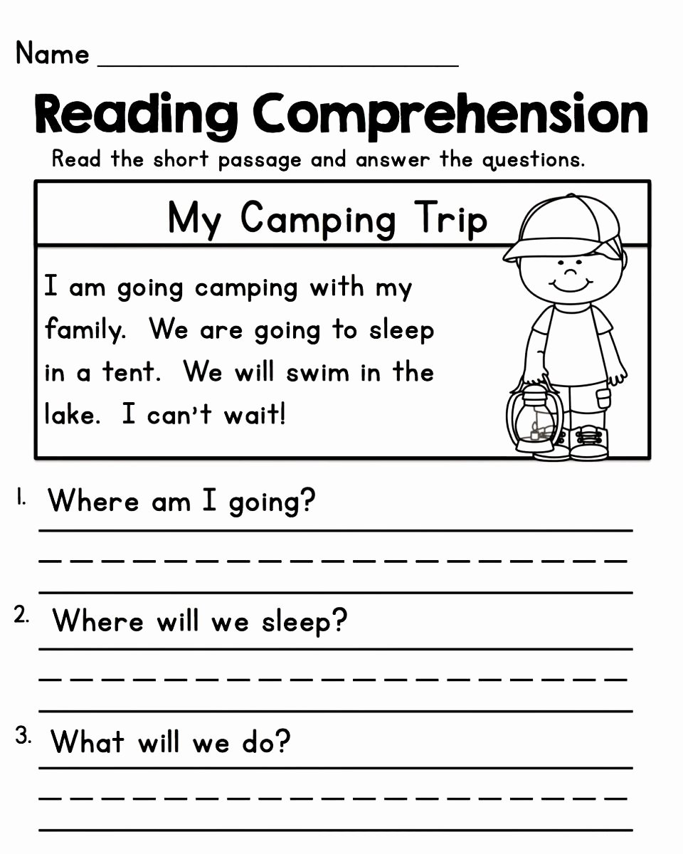 Reading Worksheets for 1st Grade Inspirational Worksheets for 1st Grade Kids Learning Activity