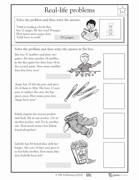 Real World Math Problems Worksheets New Real Life Word Problems Part 5 Worksheet for 2nd 4th