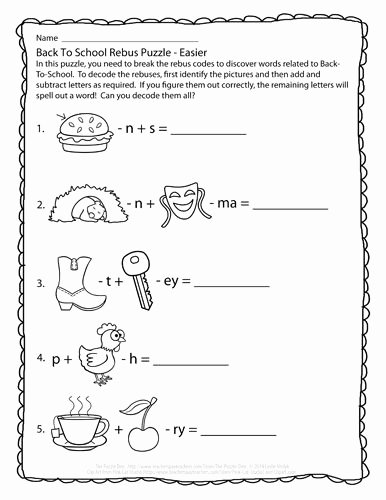 Rebus Puzzles for Middle School Best Of Perplexing Puzzles 8 6 14 Back to School