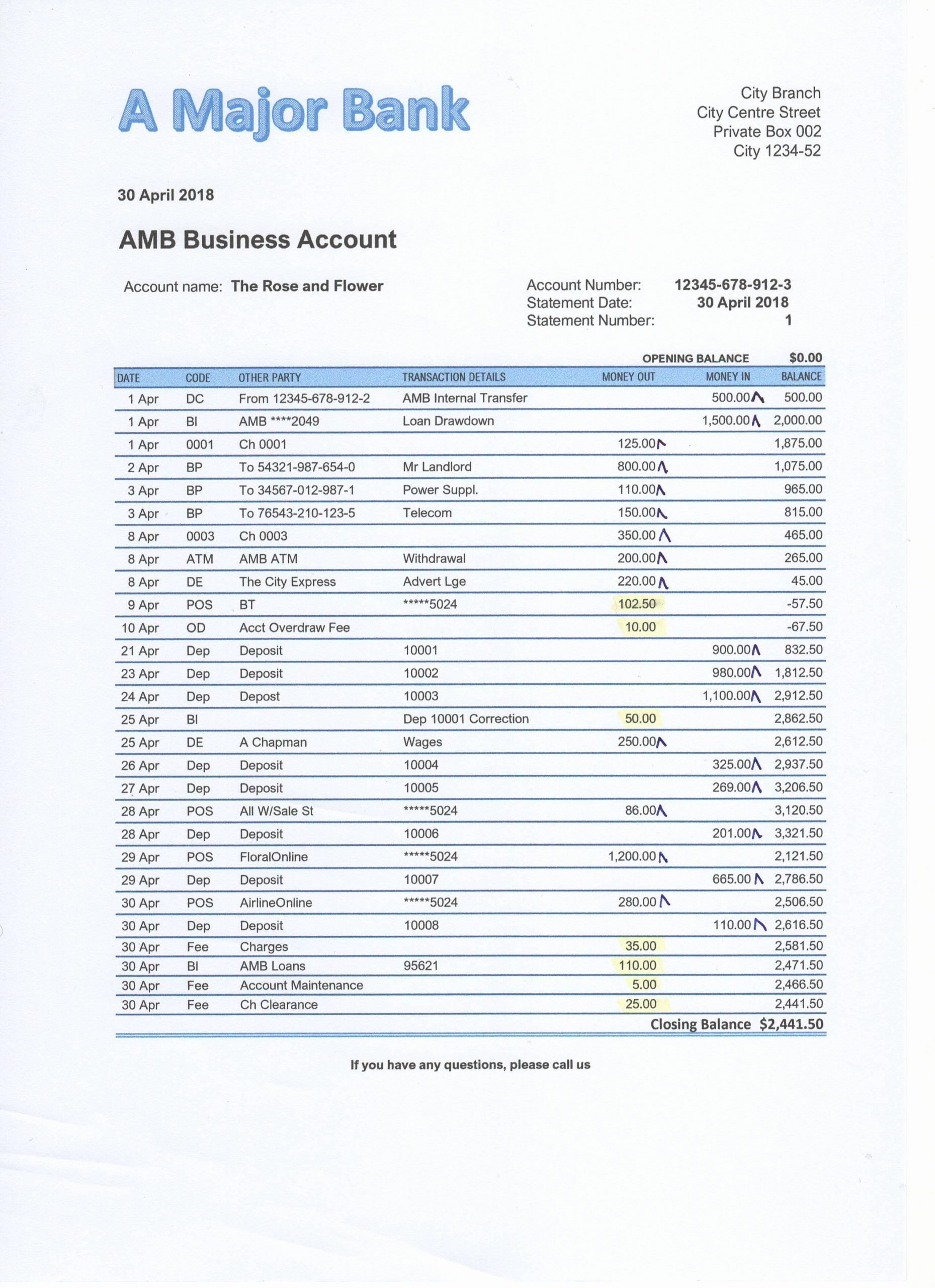 Reconciling A Bank Statement Worksheet Free Bank Reconciliation Exercises and Answers Free Downloads