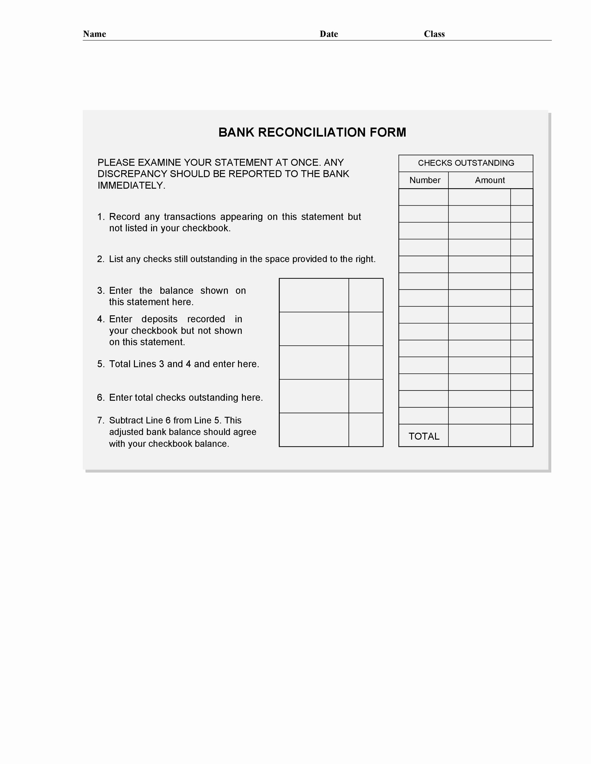 Reconciling A Bank Statement Worksheet Inspirational 50 Bank Reconciliation Examples & Templates [ Free]