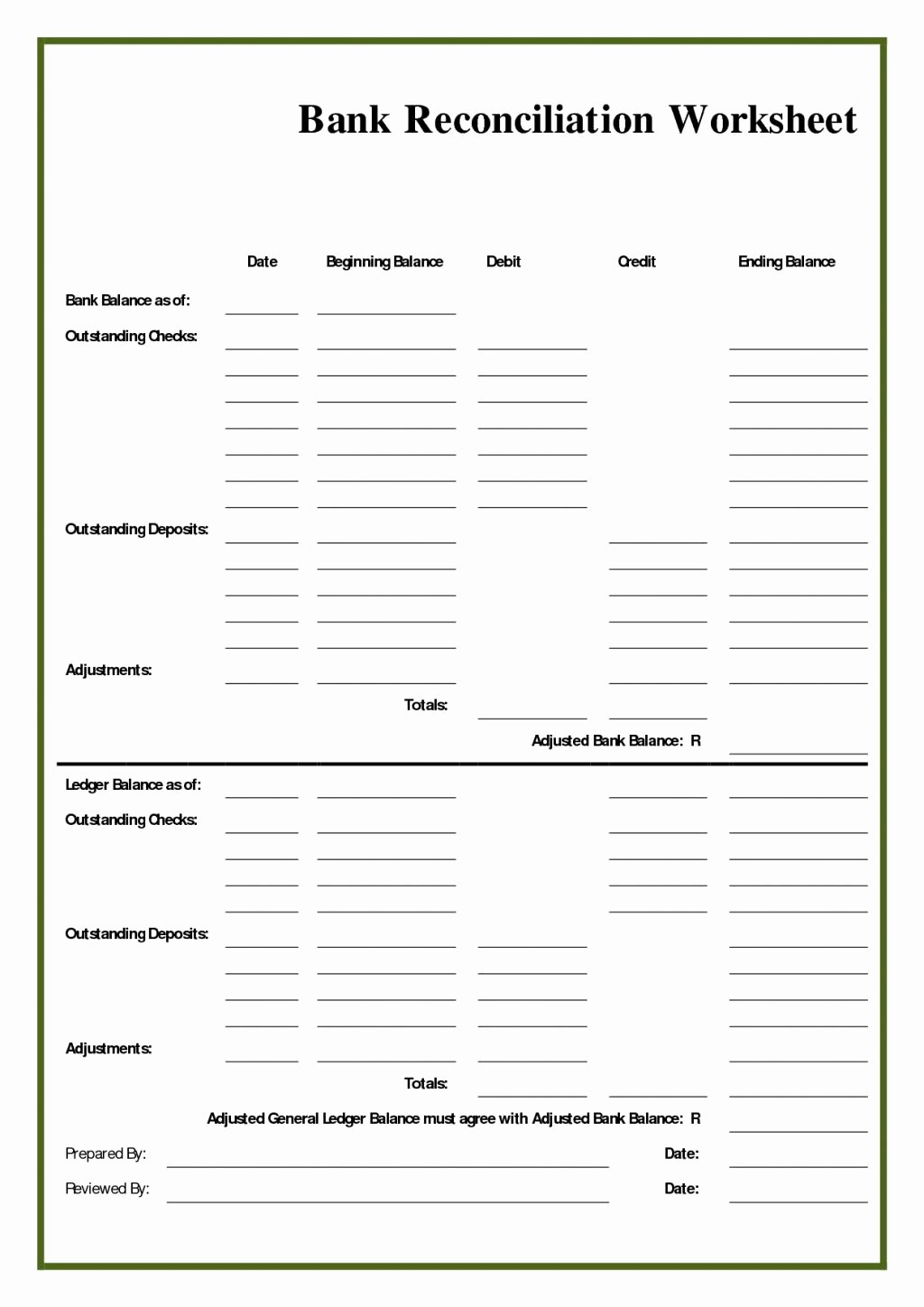 Reconciling A Bank Statement Worksheet New Three Way Reconciliation Worksheet