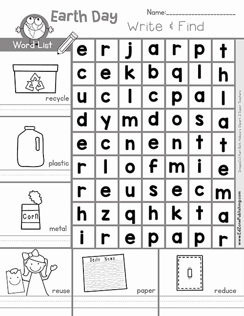 Recycling Worksheets for Middle School Lovely Free Earth Math Printable Worksheets for Kids Kindergarten