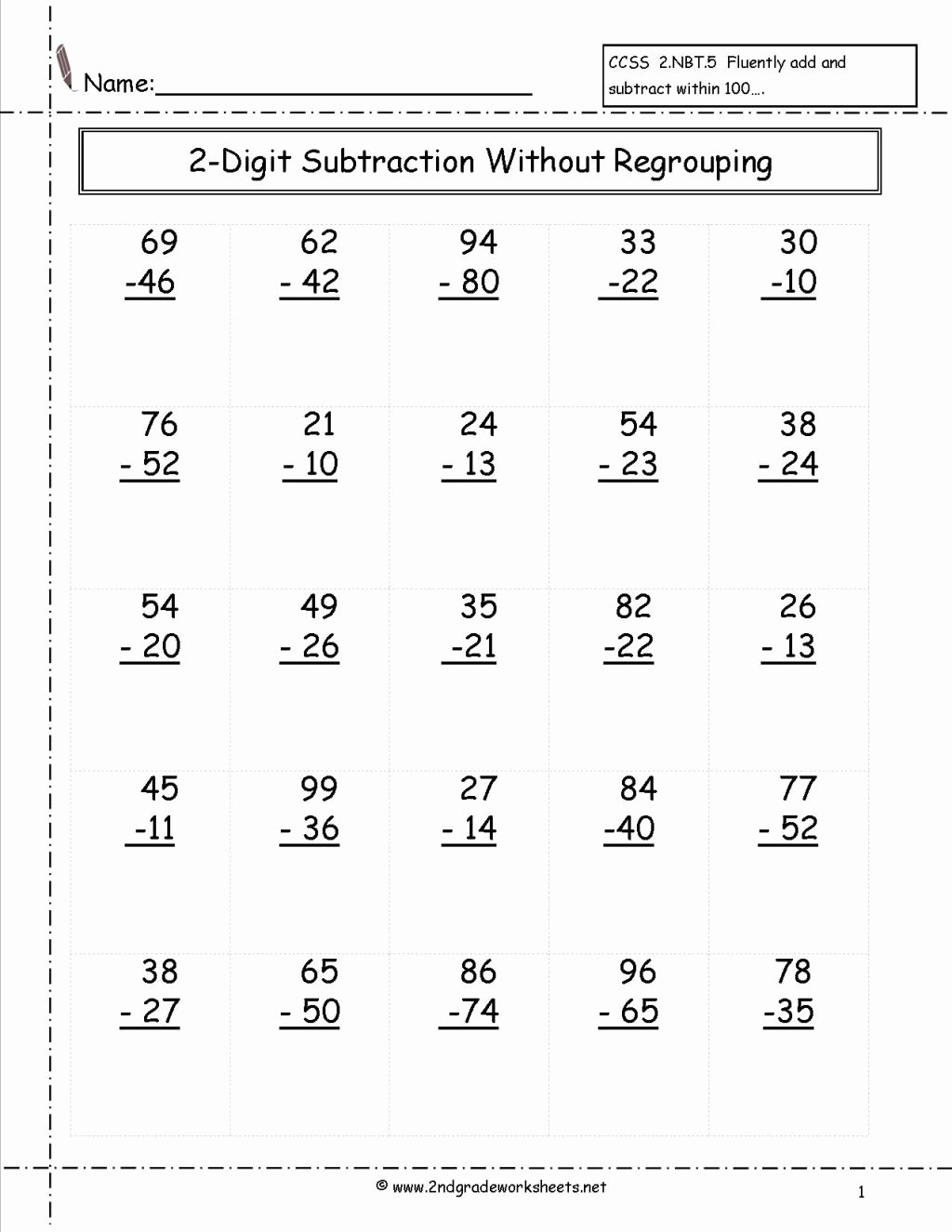 Regrouping Subtraction Worksheets 3rd Grade New Worksheet 3rd Grade Subtraction Worksheets