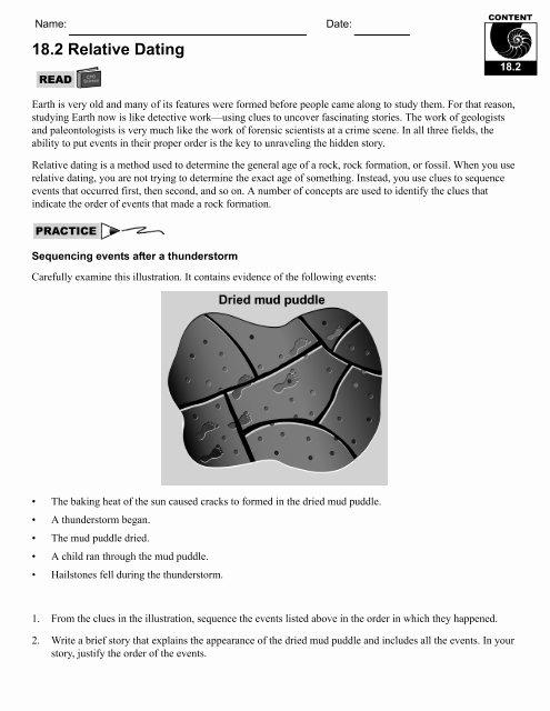 Relative Dating Worksheet Answer Key Inspirational Fossils and Relative Dating Worksheet Answer Key
