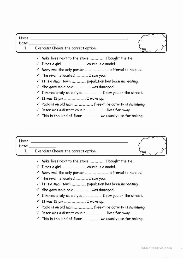 Relative Pronoun Worksheets 4th Grade Best Of Relative Pronouns Quiz