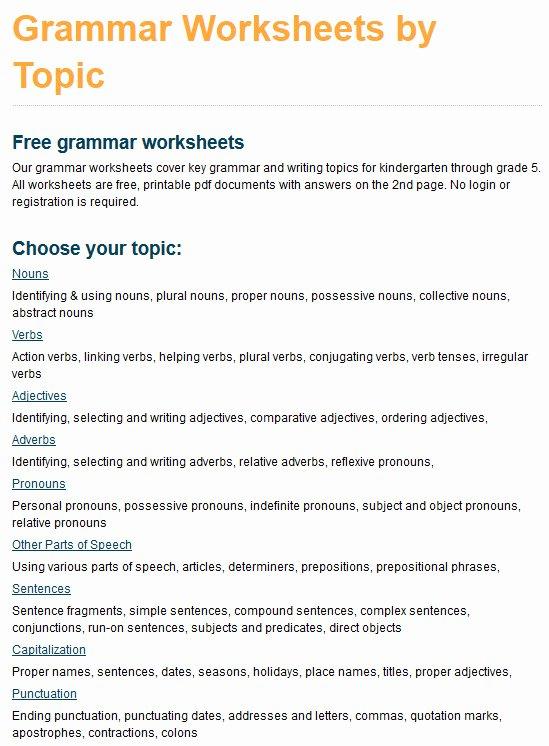 Relative Pronouns Worksheet 4th Grade Printable Hundreds Of New Grade 4 Grammar Worksheets