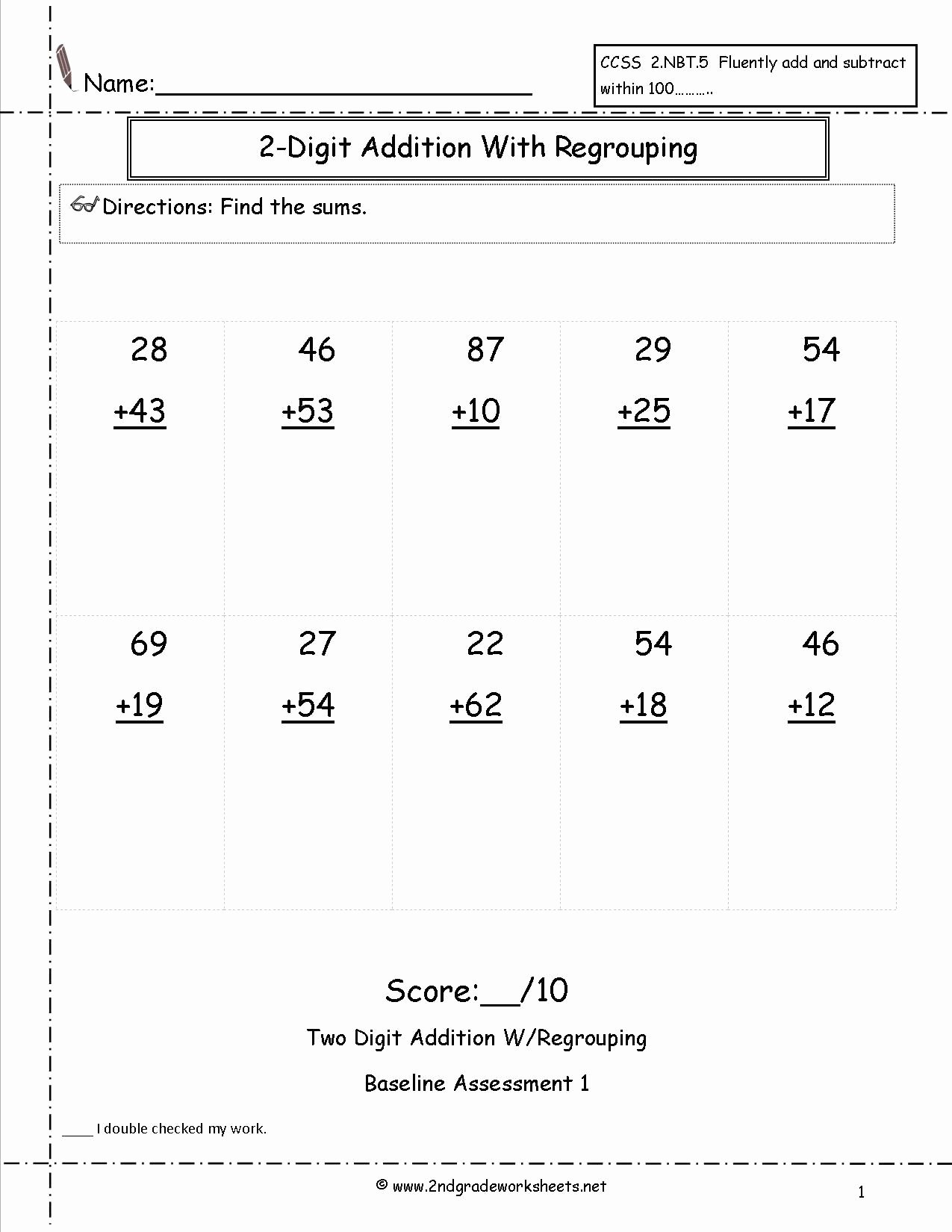 Repeated Addition Worksheets 2nd Grade Fresh Worksheet Regrouping Double Digit Addition Seconde Color