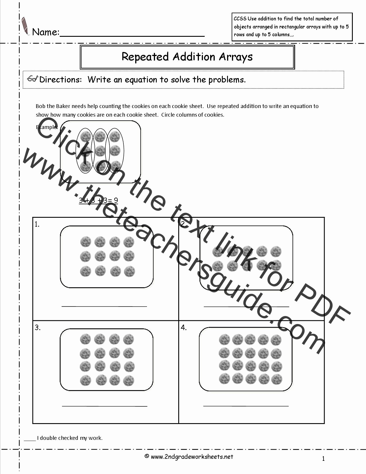 Repeated Addition Worksheets 2nd Grade New Ccss 2 Oa 4 Worksheets