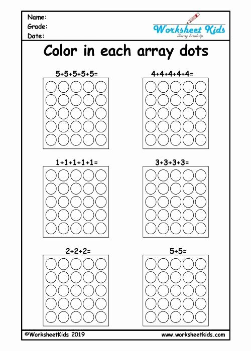 Repeated Addition Worksheets 2nd Grade New Repeated Addition Arrays Activities for Year 1 2 3 Worksheets