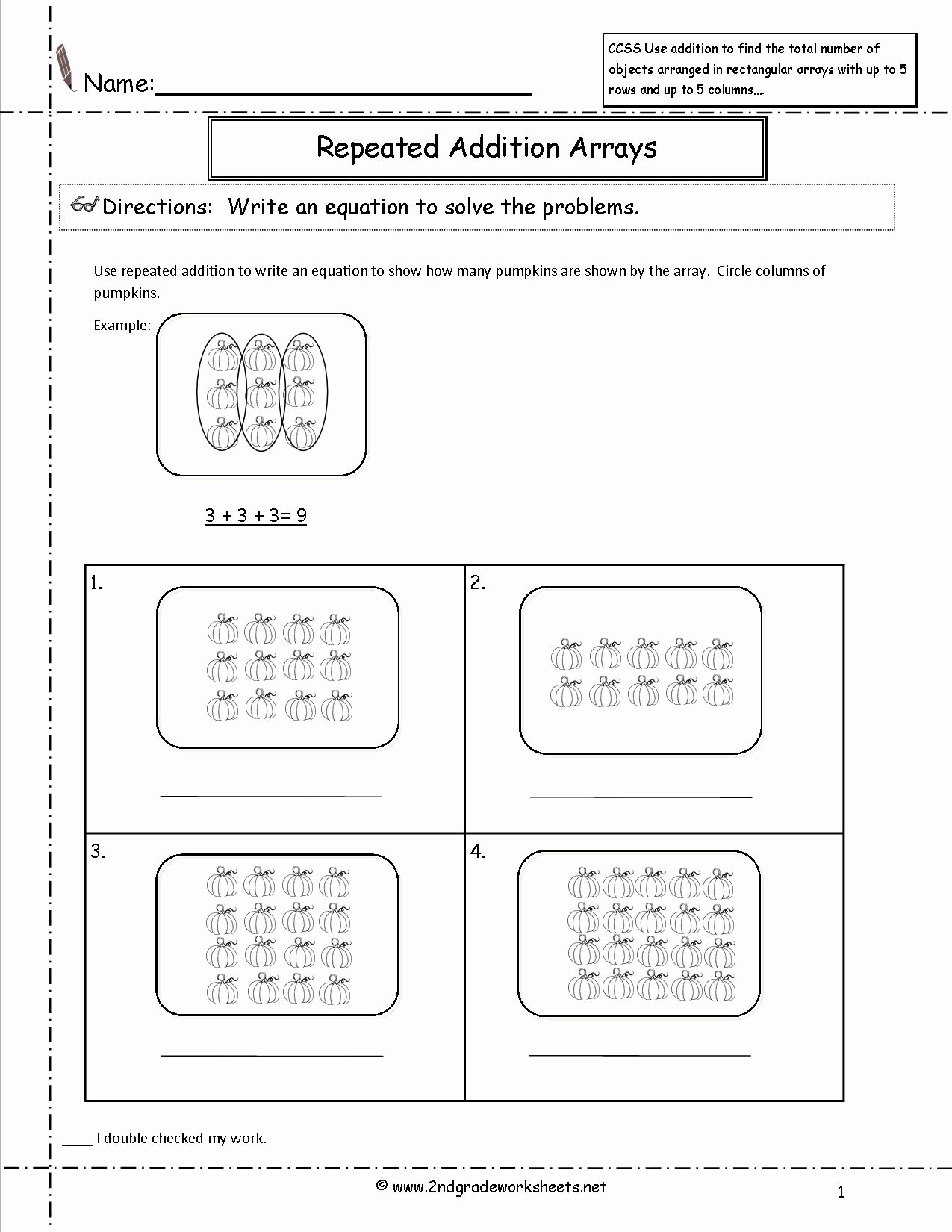Repeated Addition Worksheets 2nd Grade New Worksheet Multiplication Worksheet Array Word