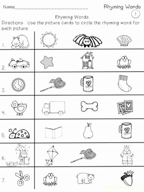 Rhyming Words Worksheet for Kindergarten top A Teeny Tiny Teacher Rhyming Words