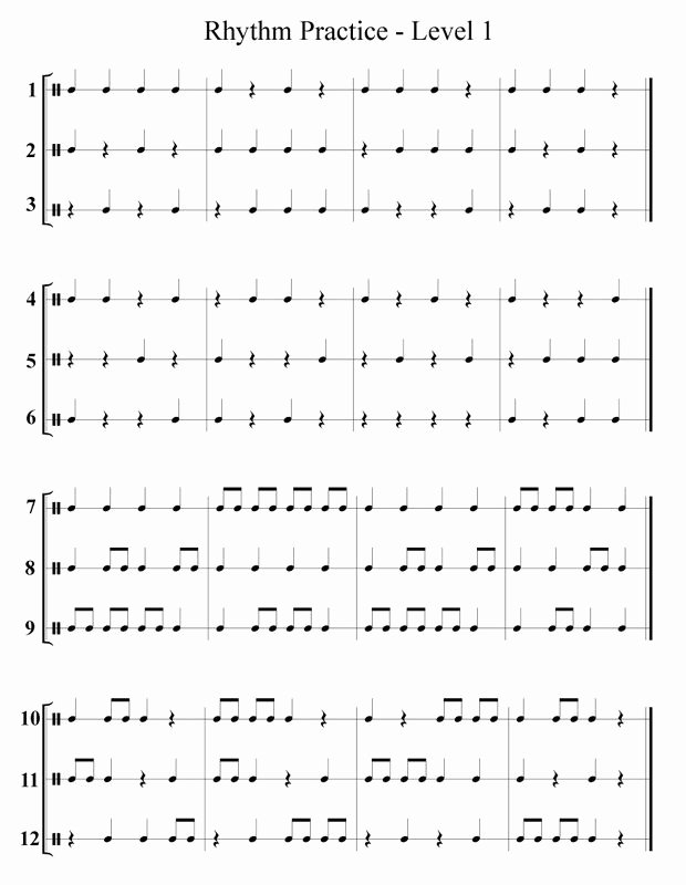 Rhythm Worksheets for Middle School Best Of Free Band & orchestra Worksheets Rhythm Notes Note Names