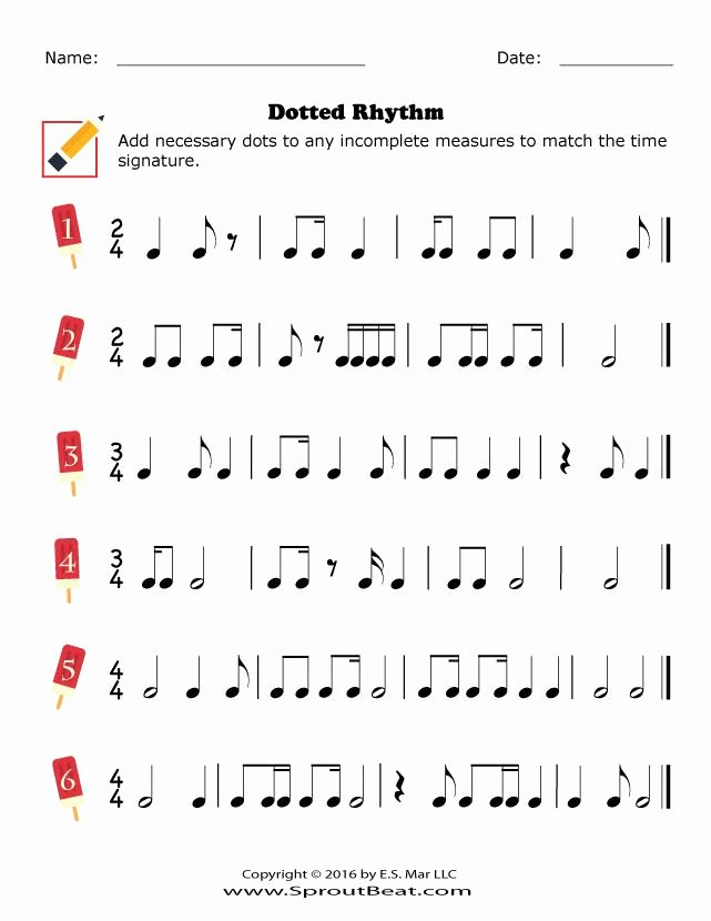 Rhythm Worksheets for Middle School Inspirational Dotted Rhythm Sproutbeat