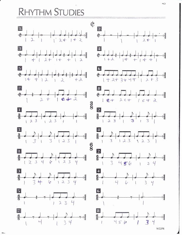 Rhythm Worksheets for Middle School Lovely Rhythm Stu S Worksheets
