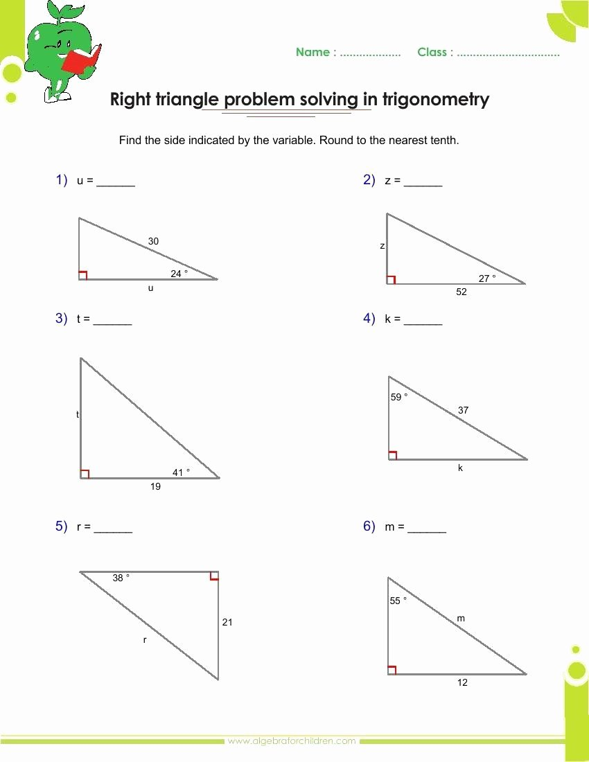 Right Triangle Trig Worksheet Answers Best Of Right Triangle Trigonometry Worksheet Awesome Basics