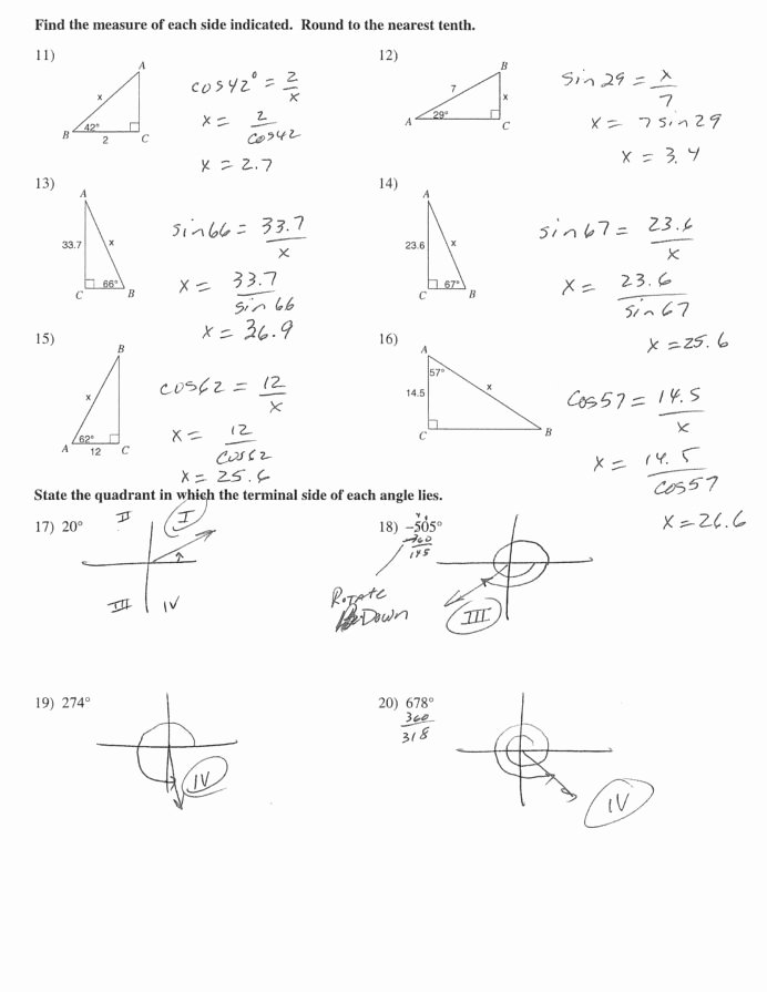 Right Triangle Trig Worksheet Answers Lovely Trigonometry Drawing at Getdrawings Free Right Triangle