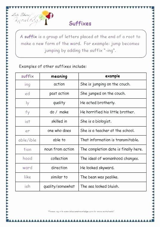 Root Word Worksheets Middle School Fresh Root Word Worksheets Middle School Suffix Worksheets 5th