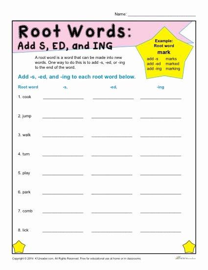 Root Words Worksheet 2nd Grade Best Of Printable Root Words Worksheets