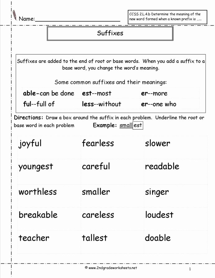 Root Words Worksheet 2nd Grade Best Of Studying Websites for 7th Graders Suffix Worksheets 2nd