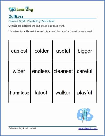 Root Words Worksheet 2nd Grade Lovely 2nd Grade Vocabulary Worksheets – Printable and organized by