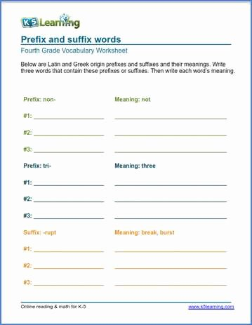 Root Words Worksheets 4th Grade Fresh Grade 4 Vocabulary Worksheets – Printable and organized by