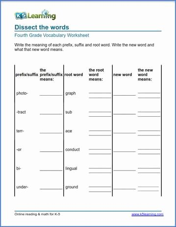 Root Words Worksheets 4th Grade Ideas Grade 4 Vocabulary Worksheets – Printable and organized by