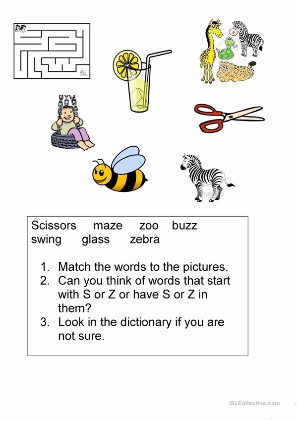 S and Z sounds Worksheets Best Of S and Z sounds English Esl Worksheets for Distance