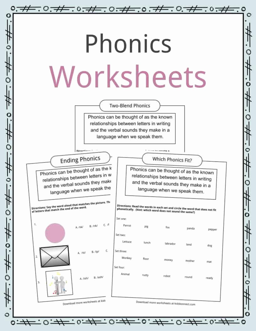 S and Z sounds Worksheets Kids Phonics Table Worksheets & Examples & Definition for Kids