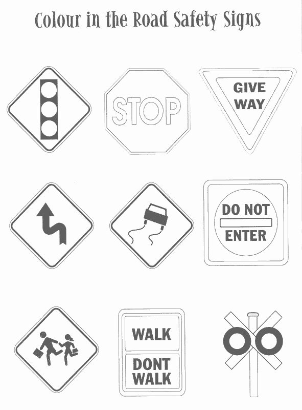Safety Signs Worksheets for Kindergarten New Free Printable Safety Signs Worksheets Inspirational Traffic